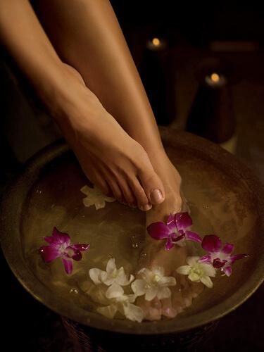 Bathing feet