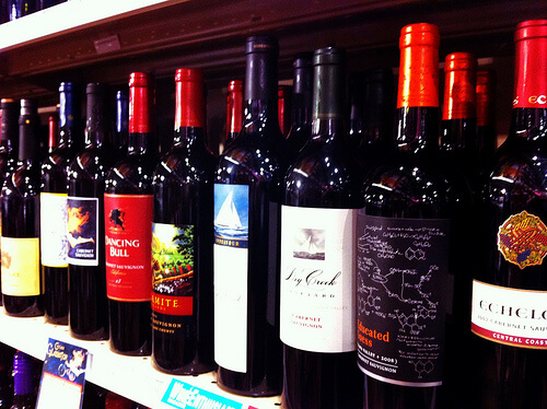 Shelf of wine