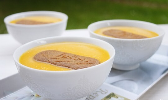 Delicious pumpkin custard