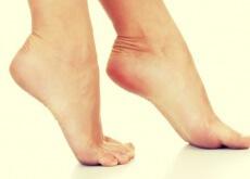 Bare heels