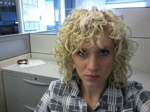 Permed-hair