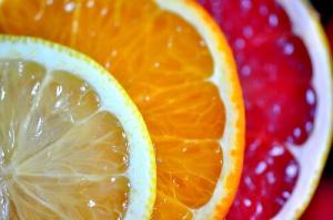 Lemon orange grapefruit