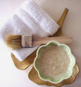 Oat cream for facial