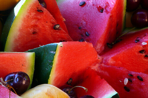 Watermelon with rind