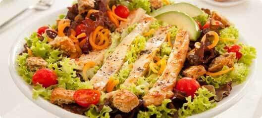 Salad with flaxseed