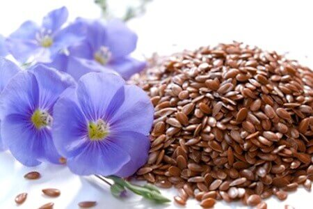 Flaxseed and flowers