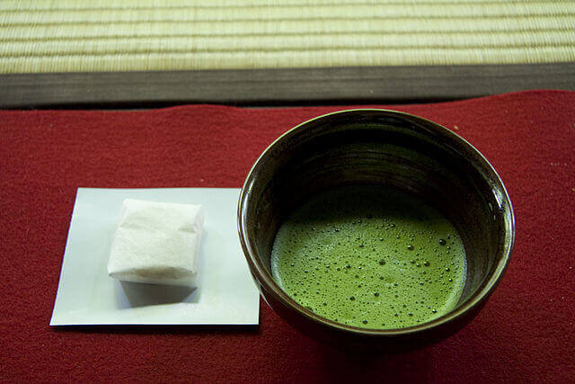 Green tea bowl
