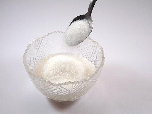 Dish of sugar
