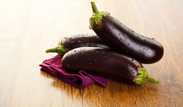 Ripe aubergines