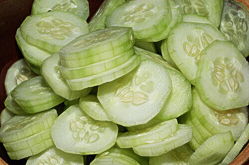 Peeled cucumber