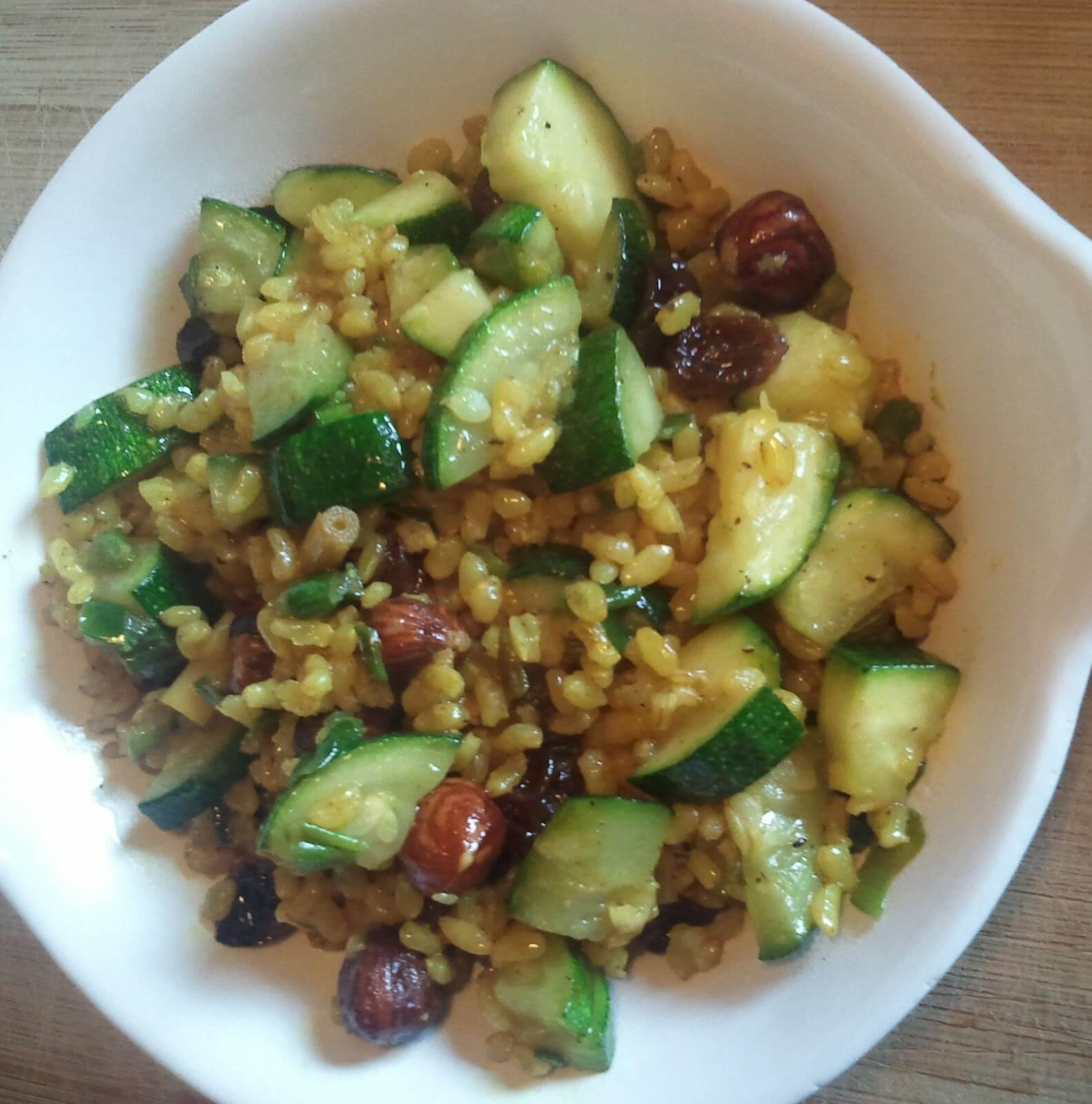 Rice with courgette