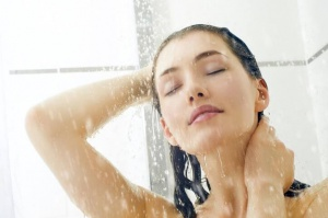 Showering-with-cold-water